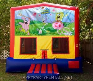 sponge bob banner bounce house