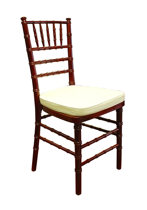 mahogany chiavari chair for rentals